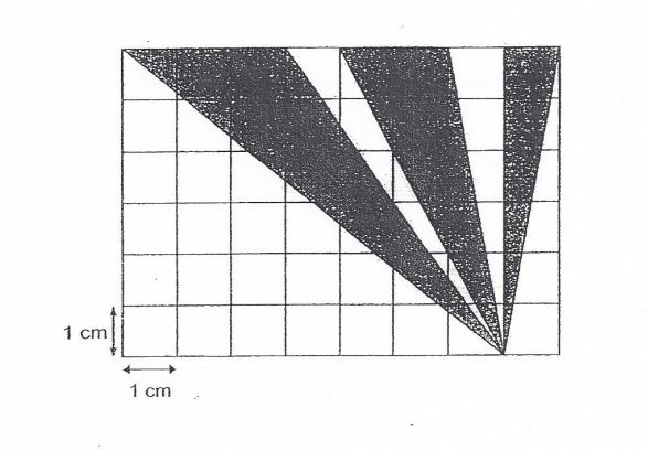 Question Image of Find the area of the shaded parts..