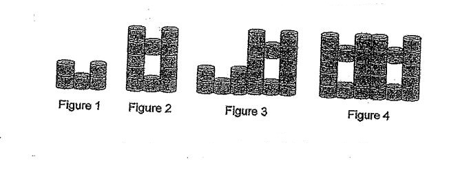 Question Image of Study the below pattern and find the number of cans in figure 9. .