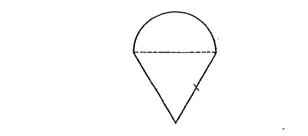Question Image of The figure is made up of a semicircle and an equilateral triangle. The diameter of the semicircle is 10cm. What is the perimeter of the figure? .