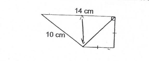 Question Image of The perimeter of the figure is 40cm. Find the area of the figure.   .