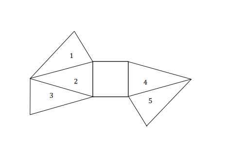 Question Image of Which triangle$(s)$ must be removed so the diagram below is a net of a pyramid?.